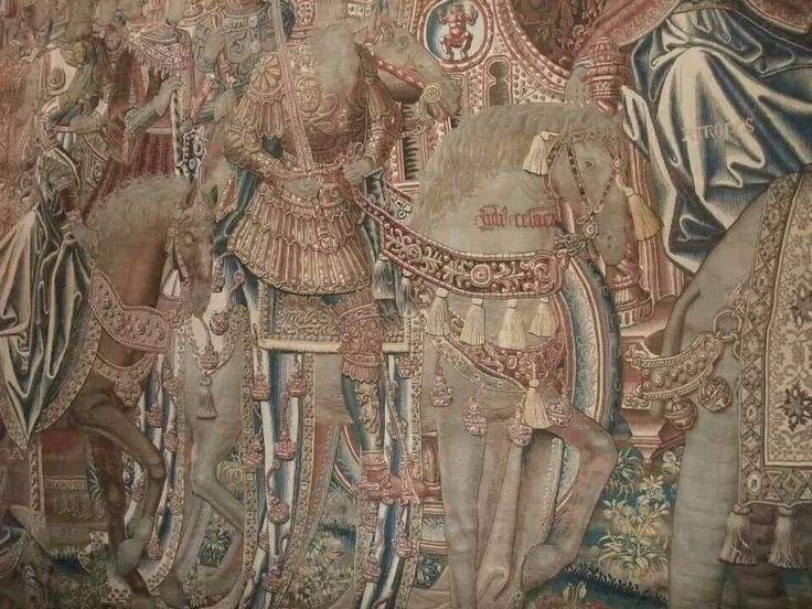 Tapestry detail horse