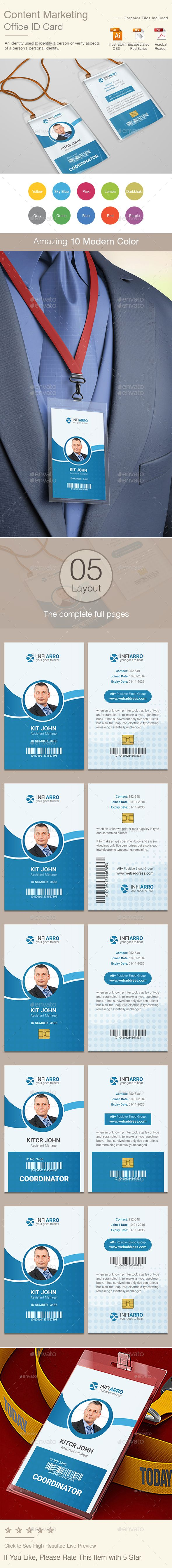 Content Marketing Office ID Card - Miscellaneous Print Templates