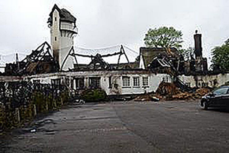 The roof of the building was completely destroyed (Picture: PA)  An arsonist who caused millions of pounds of damage with a fire that destroyed one of the country's largest thatched roofs has been jailed. Joshua Bozier started the blaze at the Grade II-listed Node Court in Codicote,...