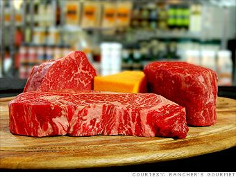 Estimated price per pound: $150 and up Kobe beef is renowned among carnivores for its rich flavor and melt-in-your-mouth texture. You'll find it at pricey steakhouses and sushi restaurants, and also at some butchers and online retailers, where a four-ounce filet mignon might set you back $50.