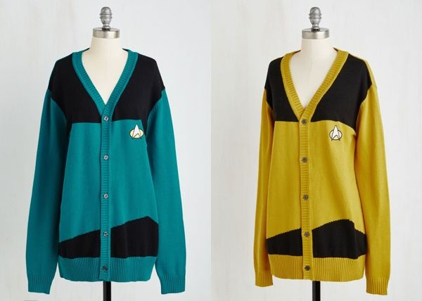 star trek cardigan