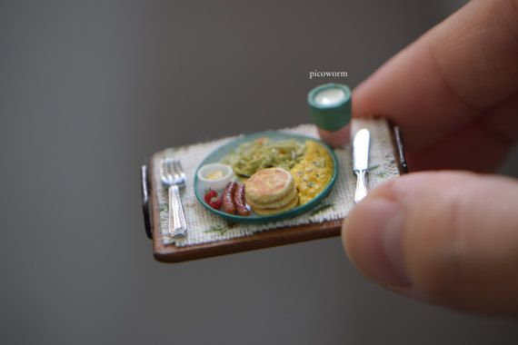 Eggs Set 1:12 Scale Butter Dollhouse Miniature Milk