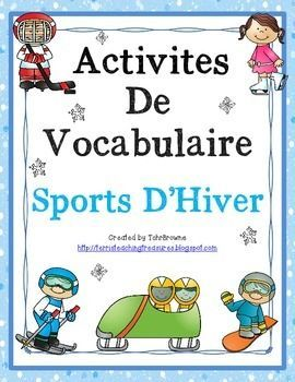 Here are 12 word wall signs and 2 vocabulary activities to help your students learn winter sports vocabulary. There are answer keys for both the word search and the labelling activity.This product is intended for use with a French as a Second Language (FSL) class.I recommend laminating the word wall signs before displaying so they will last.Sports included are: speed skating, curling, bobsled, downhill skiing, cross-country skiing, figure skating, hockey, snow shoeing, luge, ice skating…