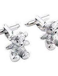 Groom/Groomsman Cute Bear Brass Cufflinks