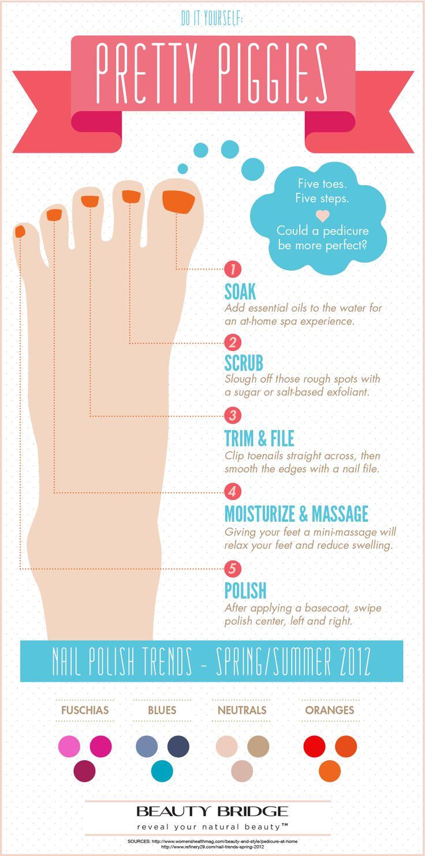 221 best pedicure ideas images on Pinterest | Nail design, Cute ...