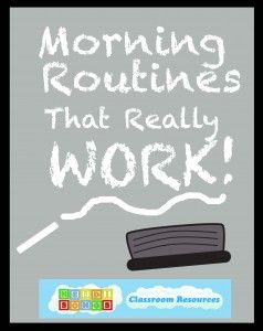 Morning Routines for kindergarten