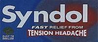 Syndol Fast Relief From Tension Headache 30 Tablets - Only One Pack Can Be Sold At A Time by Reckitt Benckiser Healthcare. $40.31. Syndol Fast Relief From Tension Headache, For Migraine Pain, Easy To Swallow Tablets. Syndol Is Formulated To Bring Fast Effective Relief From Pain, Especially The Pain Associated With Tension Headaches And Migraines. Syndol Contains Paracetamol, Codeine And Caffeine To Relieve Head Pain, And Doxylamine Succinate To Relax Muscular Ten...