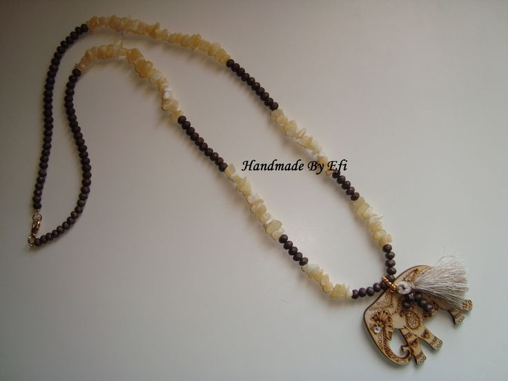 #necklace #Boho #Agate #crystals #Wood