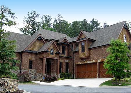 11 best images about garage doors on pinterest for House plans with 3 car attached garage