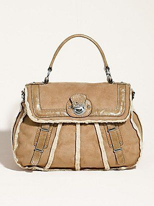 Guess camel suede and leather handbag-perfect with UGG boots.For SALE.For INFO contact me.Thanks :)