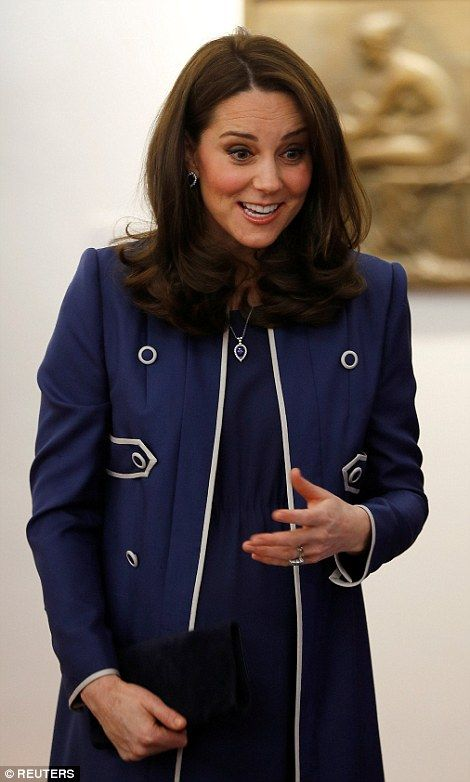 The Duchess of Cambridge collapsed into fits of giggles as she chatted to staff at RCOG in London's Marylebone this morning