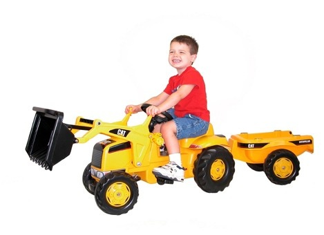 Caterpillar Tractor w/Trailer KET-23288 - My son would play for hours on this!