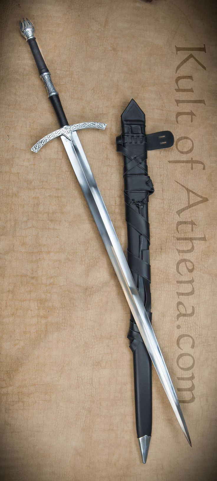 Darksword Witchking Sword with Integrated Scabbard Belt