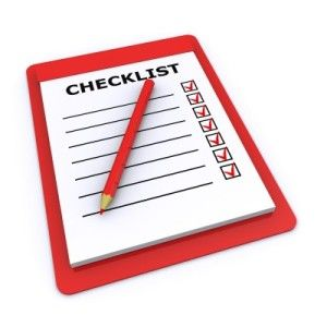 website checklists