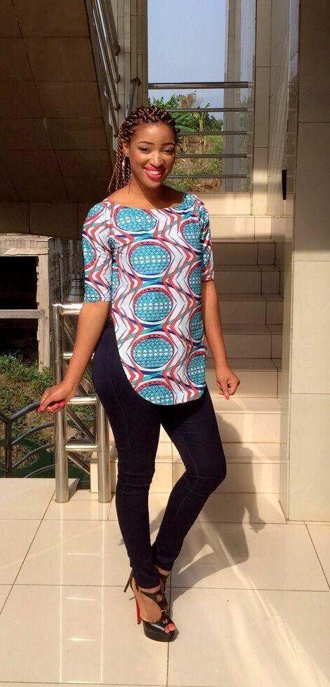 Check out Latest Ankara Styles and  dresses >> http://www.dezangozone.com/NEW Hosy Blouse ~Latest African Fashion, African Prints, African fashion styles, African clothing, Nigerian style, Ghanaian fashion, African women dresses, African Bags, African shoes, Nigerian fashion, Ankara, Kitenge, Aso oku00e8, Kentu00e9, brocade. ~DKK