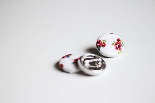 silvART / Kvetovaný odznak (biely)