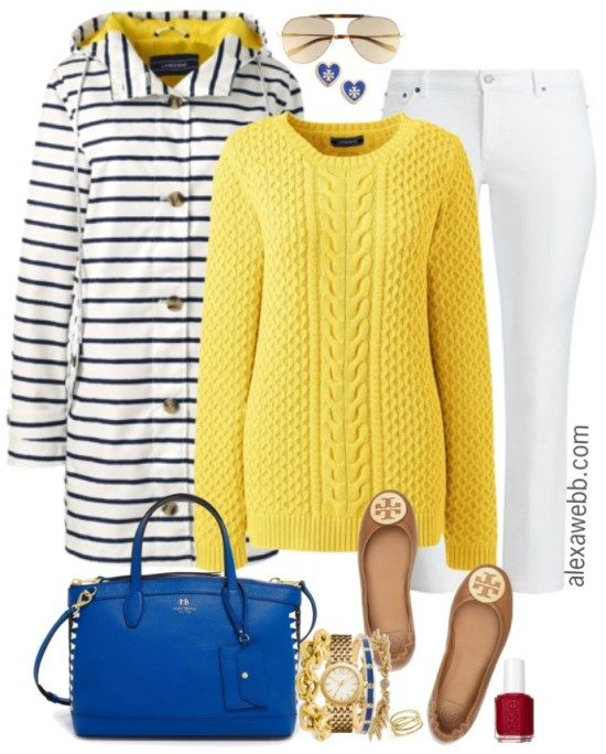 b2eb25b133d Plus Size Yellow Sweater Outfit - Plus Size Spring Outfit - Plus Size  Fashion for Women - alexawebb.com  alexawebb  plussize