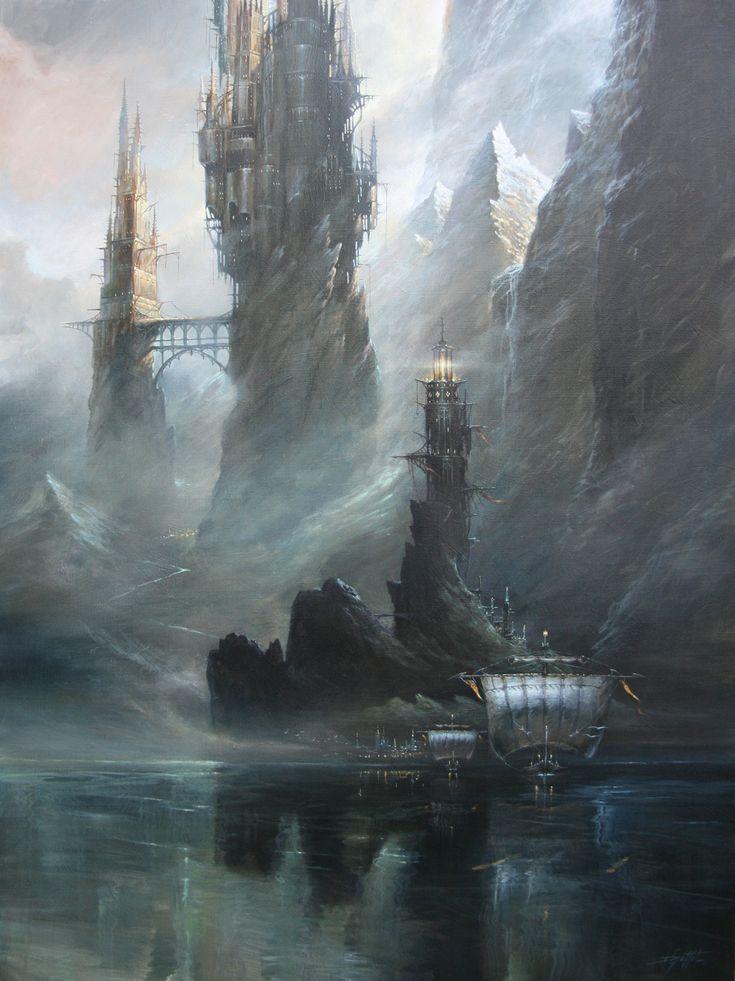 Steampunk Scenery by Didier Graffet