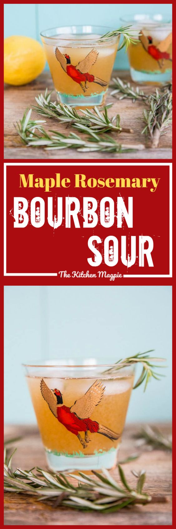 How to Make a Maple Rosemary Bourbon Sour from @kitchenmagpie