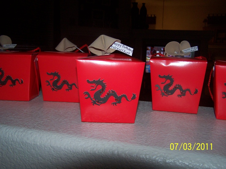 Party Favor Chinese Take Out Boxes : My homemade chinese take out boxes were a cute party favor