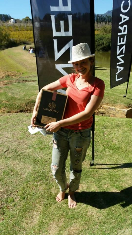 Winner of a Lanzerac Hamper at the annual Biltong & Pinotage Festival