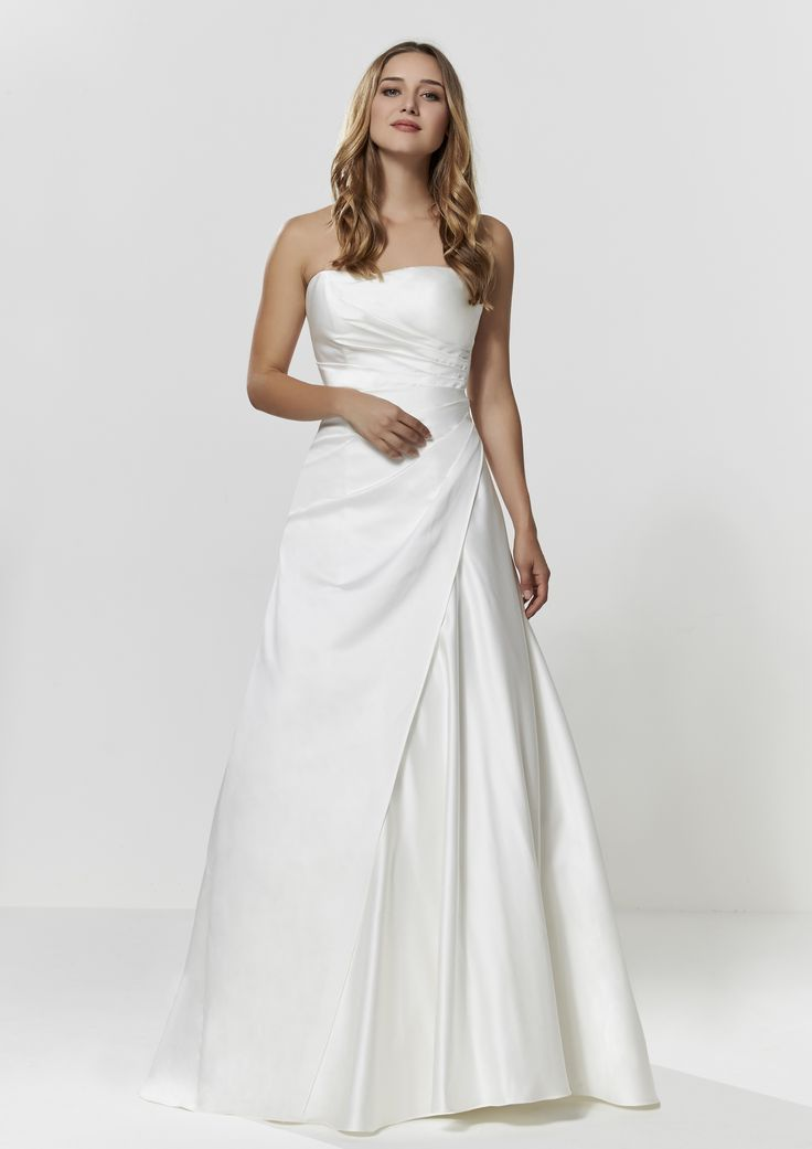 Asymmetric Wedding Dress - Check out our Custom Pin Options #CustomWeddingDress