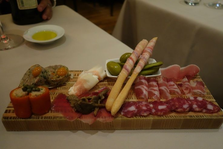 Gorgeous housemade charcuterie platter (bresola, duck terrine with quince, two types of prosciutto, pancetta wrapped around cheese sticks, tuna salad wrapped in salmon with capers, pickles) at La Quercia #Kits #Kitsilano #FMFLaQuercia