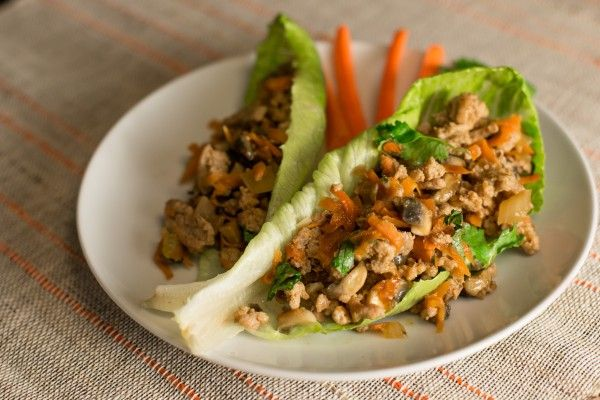 Turkey Lettuce Wraps with Mushrooms via Christy Wilson Nutrition, RD