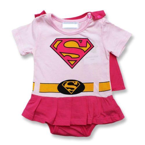 Baby Supergirl Superman Fancy Dress Outfit Bodysuit 0 3M 3 6M 6 12M 12 18M | eBay