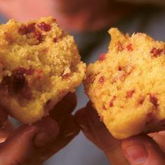 Cornmeal-cherry Muffins (via foodily.com)