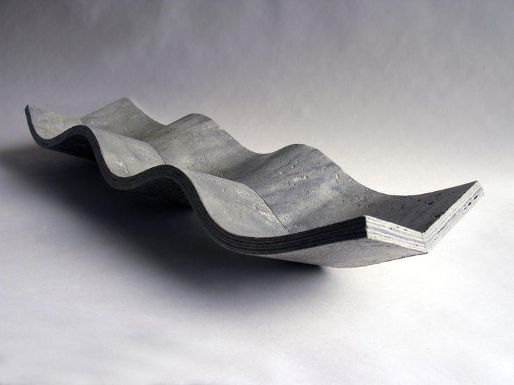 """THIRD WAVE cement bowl  Betflex Cement  26 1/2"""" long x 10 1/2"""" wide x 4 1/2"""" high"""
