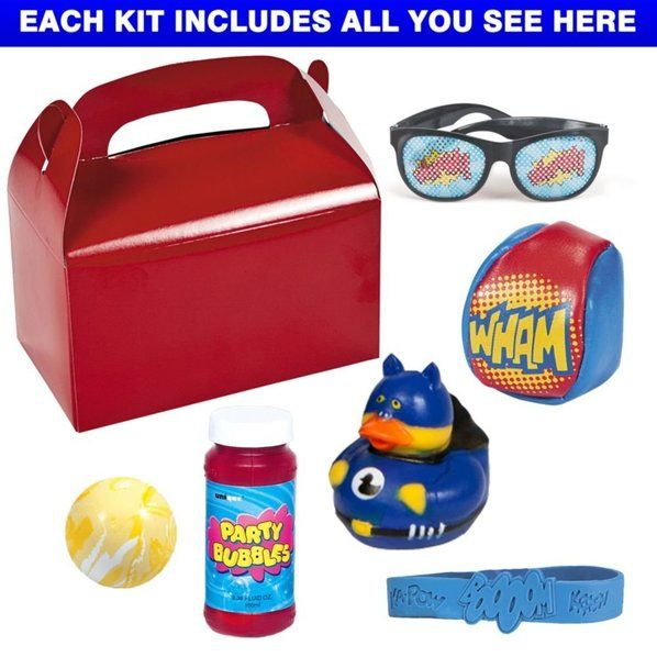 Check out Superhero Party Deluxe Favor Kit (for 1 Guest) - Cheap Party Decorations and Accessories from Wholesale Party Supplies