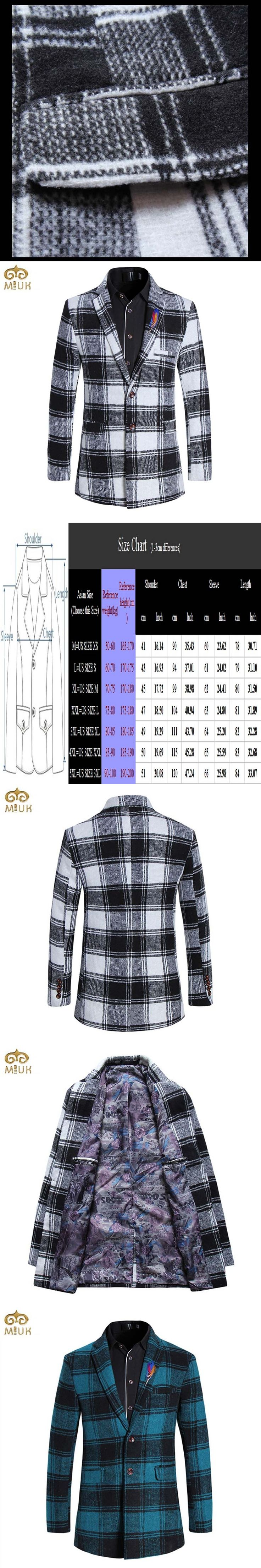 Large Size Plaid Long Blazer Men Brand Clothing 5XL Black White Blue Men Blazer Designs Slim Fit Cotton Blazer Masculino 2017