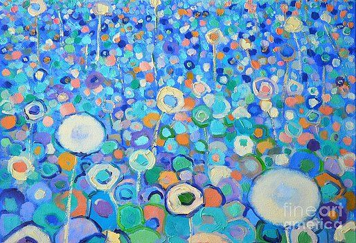 Abstract Flowers Field by Ana Maria Edulescu