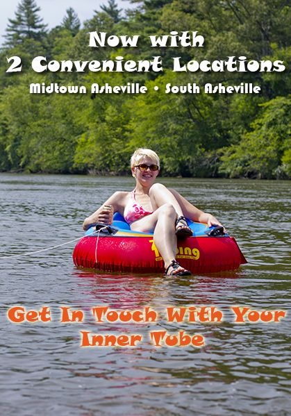 Zen Tubing - Tube in Asheville NC on the French Broad River.  River Tubing trips are fun for the whole family in Asheville, NC toobing