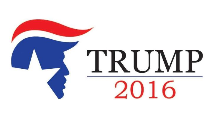 Trump campaign logos are all about the hair