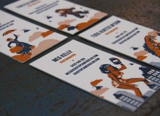 letterpress, business cards, laundry group, giddy up camera club, lettra, design