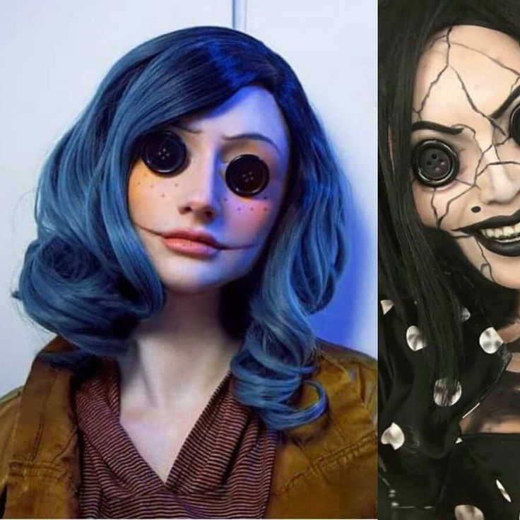 Coraline Coraline Theothermother Cool Halloween Makeup Unique Halloween Makeup Halloween Costumes Makeup