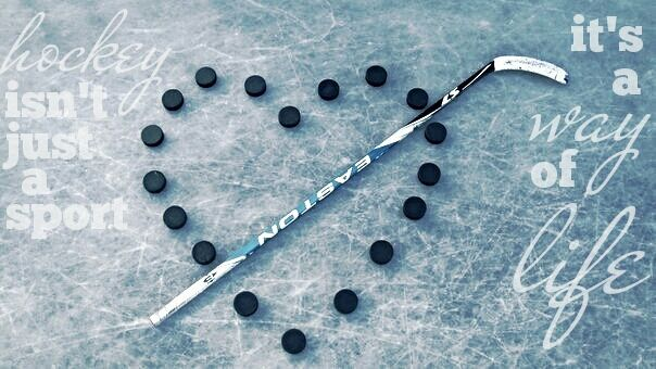 Would like to get this shot of the pucks on the ice (without the stick though...)