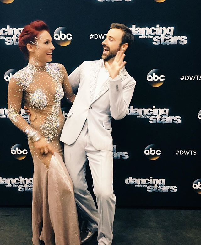 """Tonight was an inspiration!! I'm so proud of you @hinchtown! It's hard to believe where you were just 15 months ago. Your courage, passion and positivity are just the start... You put so much work and heart in to each week! I'm so happy to be on this journey with you! ...And 29/30 isn't bad for a guy who """"sits for a living""""! ;) ❤️❤️❤️ #TeamStopAndGo  @dancingabc #DWTS"""