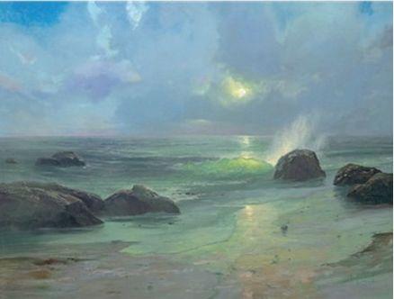 Pacific Nocturne ~ Thomas Kinkade