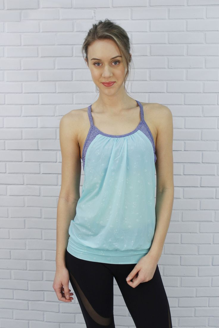 Only at J76 Athletic Wear - Strappy bra with tank top cover - Ariana Top