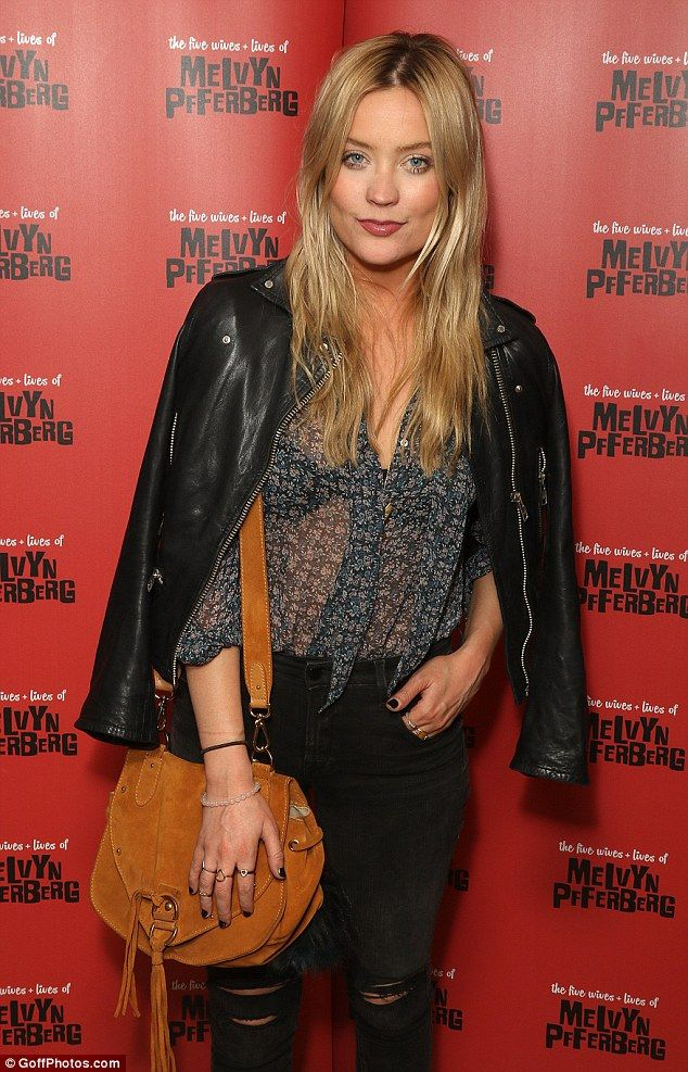 Blonde beauty: Laura Whitmore also settled for off-duty chic in ripped jeans and monochrom...