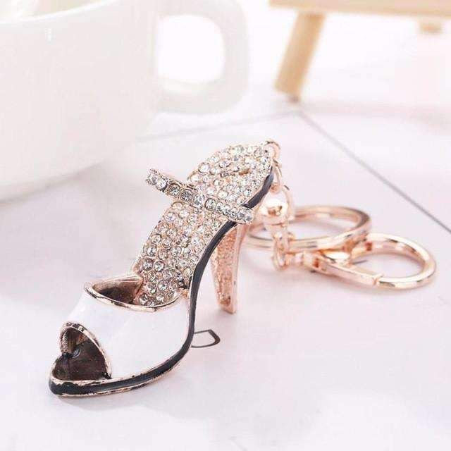 High Heels Model Rhinestone Tassel Keychain Bag Handbag Key Ring Car Key Pendant
