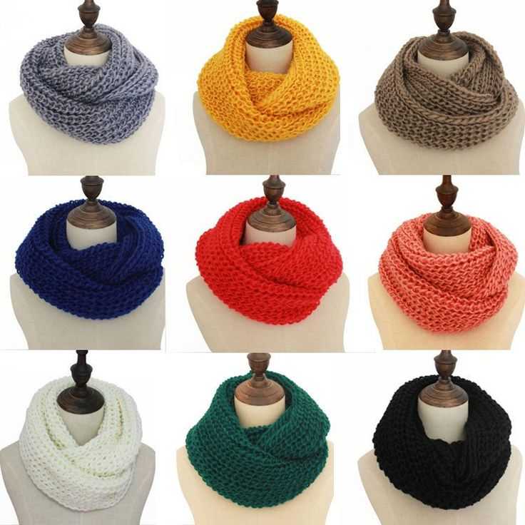 Fashion Knitted Infinity Ring Snood Scarf