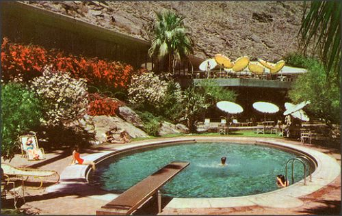 1950sunlimited: Tennis Club Pool Palm Springs, California