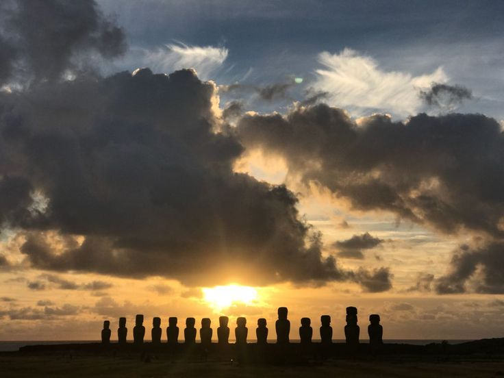 There is no better way to start the day than to enjoy the breathtaking spectacle of seeing the sunrise behind Ahu Tongariki - the largest and most impressive Easter Island monument!  Book our Tongariki Sunrise Private tour and discover the island in a more personalized way! Are there 15 or 16 moais? jejeje