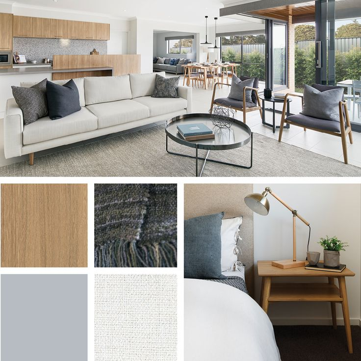 Honey elm timbers and crisp clean whites create the base for the Scandinavian colour palette.