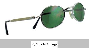 Frisco Tiny Metal Spectacles Sunglasses - 157 Silver