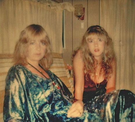 Christine McVie and Stevie Nicks.